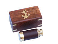 Telescope - Deluxe Class Scouts Brass - Leather Spyglass