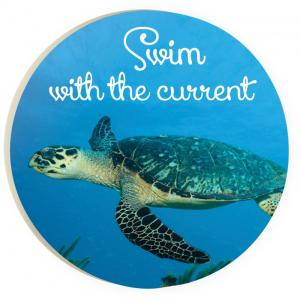 Car Coaster COA0149 - Swim with the Current - Sea Turtle