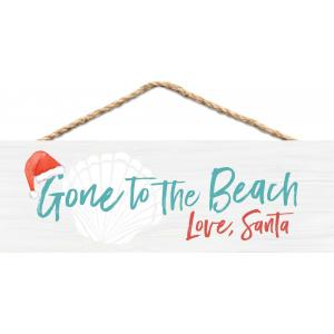 Sign - HPS0118 - Gone to the Beach, Love Santa