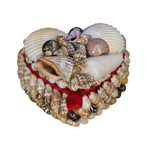 Box - Mini Heart Shape Shell Box