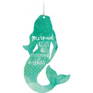 Ornament - ORN0185 - Mermaid Kisses & Christmas Wishes