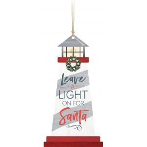 Ornament - ORN0289 - Lighthouse Leave a light on for Santa