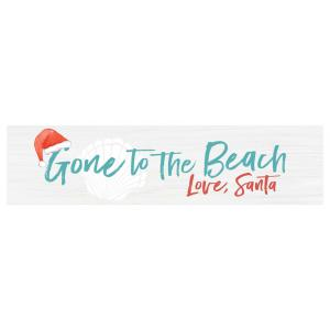 Sign - RDM0298 - Gone to the Beach Love, Santa