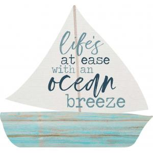 Sign - SHP0055 - Sail Boat - Life's at Ease