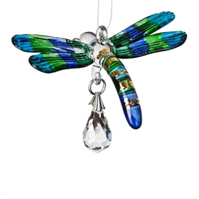Crystal Fantasy Glass Dragonfly - Peacock - CDPEA