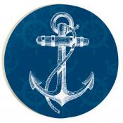 Car Coaster COA0126 - Anchor Blue