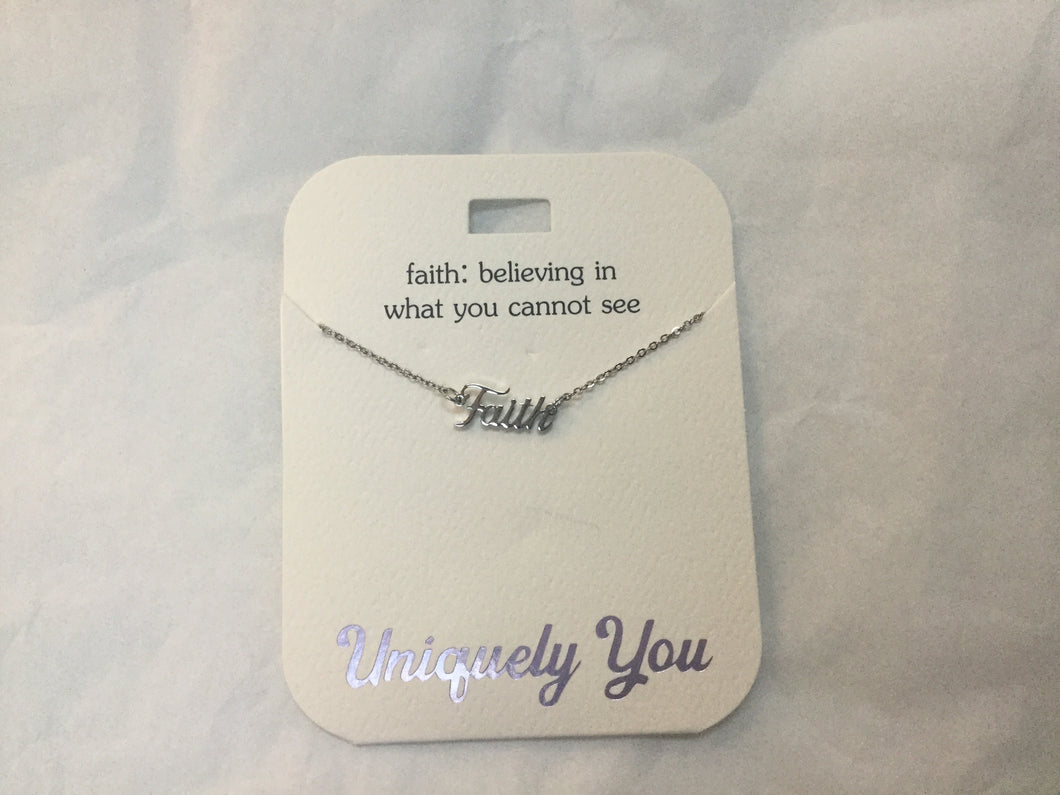 Necklace - YOU 1001 - Faith: believing in what you cannot see