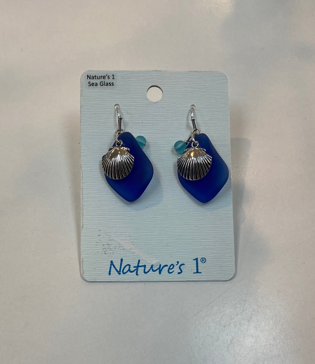 Earrings - SGE 215 - Sea Glass Seashell