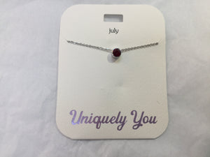 Necklace - YOU 2007 - July Birthstone - Ruby