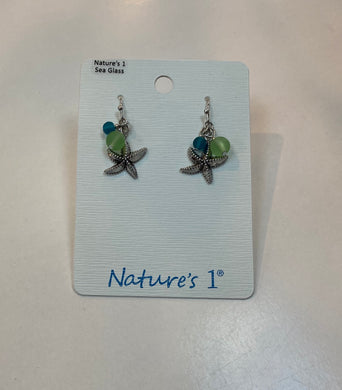 Earrings  - SGE 201 - Sea Glass Starfish