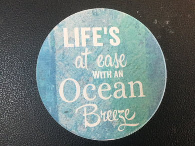 Car Coaster CST0066 - Life's at ease with an Ocean Breeze