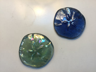 Glass Art - Pearly Glass Sand Dollars
