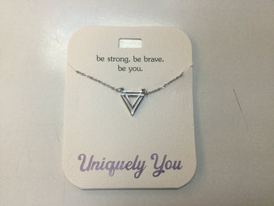 Necklace - YOU 4020 - Be strong. Be brave. Be you.