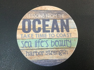 Car Coaster CST0059 - Lessons from the Ocean