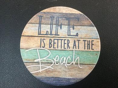 Car Coaster CST0058 - Life is better at the Beach