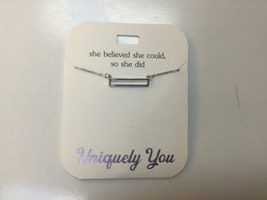 Necklace - YOU 4029 - She believed she could, so she did