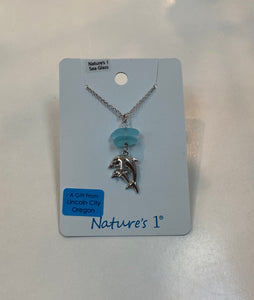 Necklace - SGP 205 - Sea Glass Dolphin