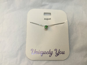 Necklace - YOU 2008 - August Birthstone - Peridot