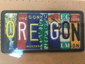 Patch - Oregon License Plate