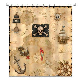 Shower Curtain - Pirate