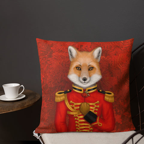 "Premium pillow ""Today I am a warrior"" (Fox)"