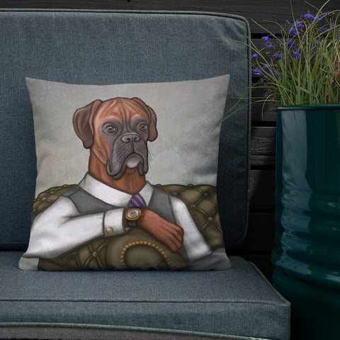 "Premium pillow ""Good things come to those who wait"" (Boxer)"