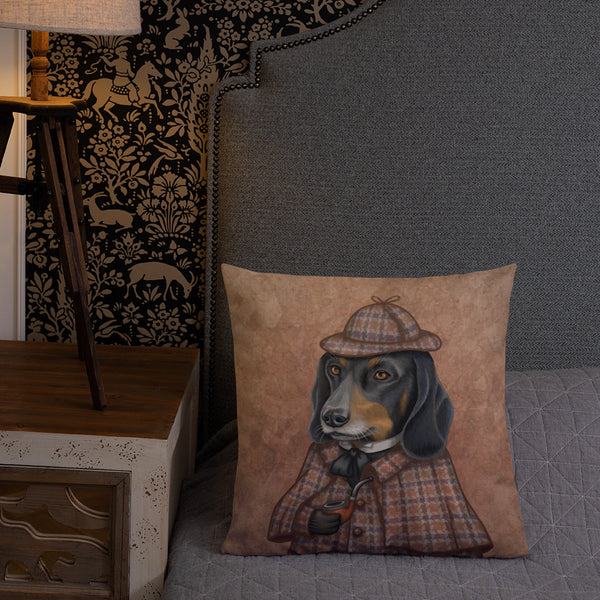 "Premium pillow ""Everything happens for a reason"" (Dachshund)"
