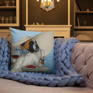 "Premium pillow ""The one who goes far, sees a lot"" (Boxer)"