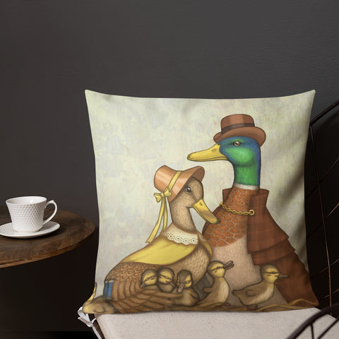 "Premium pillow ""Big nest, big family"" (Ducks)"
