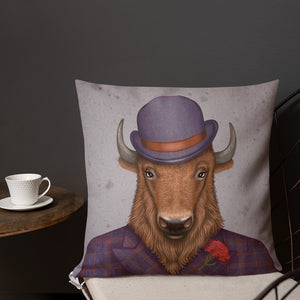 "Premium pillow ""Beard is the man's honor"" (Bison)"