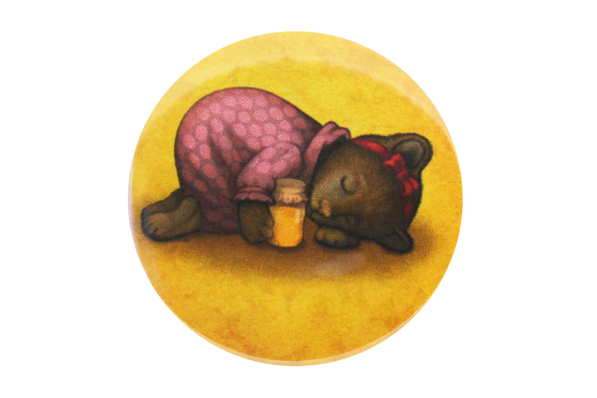 "Badge ""Sleeping is sweeter than honey"" (Bear)"