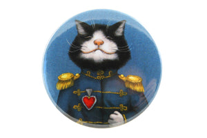 "Badge ""All's fair in love and war"""