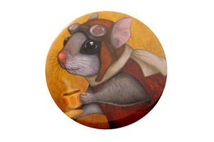 "Badge ""Who is timid in the woods boasts at home"" (Flying squirrel)"