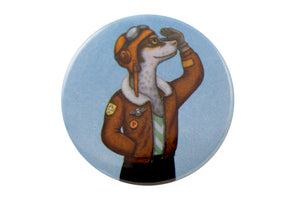 "Badge ""Have courage and the world is yours"" (Dog)"
