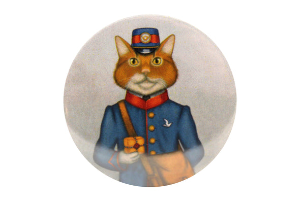 "Badge ""The best things come in small packages"" (Cat)"