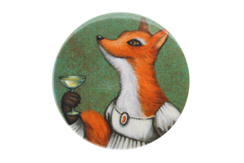 "Badge ""She who doesn't risk never gets to drink champagne"""