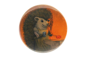 "Badge ""Everyone is the blacksmith of his own fortune"" (Hedgehog)"