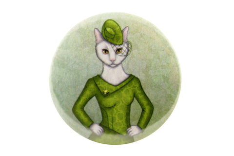"Badge ""Smooth cat, sharp claws"""
