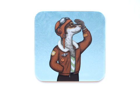 "Coaster ""Have courage and the world is yours"" (Dog)"