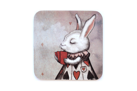 "Coaster ""Unlucky at cards, lucky in love"" (Hare)"