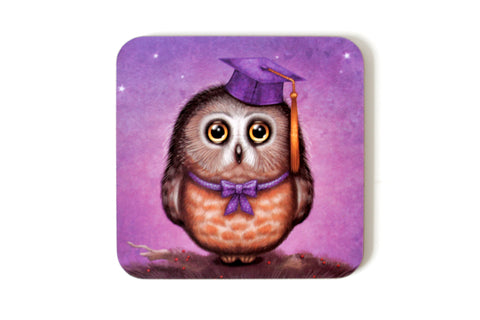 "Coaster ""Wonder is beginning of wisdom"" (Owl)"