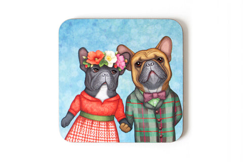 "Coaster ""A life without love is like a year without summer"" (French bulldogs)"