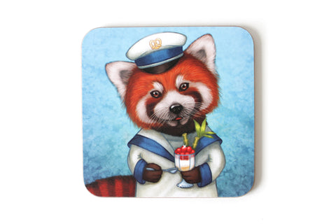 "Coaster ""Life is uncertain so eat your dessert first"" (Red panda)"