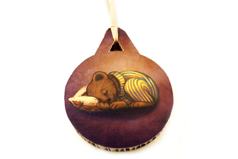 "Christmas tree decoration ""Morning is wiser than evening"" (Bear)"