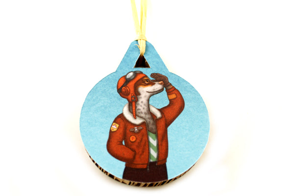 "Christmas tree decoration ""Have courage and the world is yours"" (Dog)"