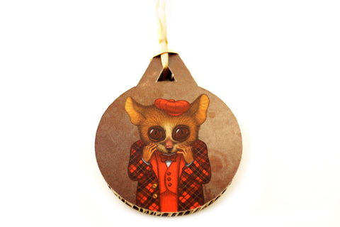 "Christmas tree decoration ""Fear has big eyes"" (Mouse lemur)"