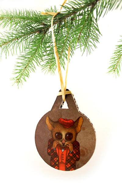 "Christmas tree decoration ""Fear has big eyes"""