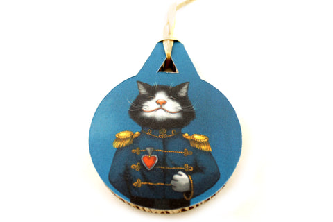 "Christmas tree decoration ""All's fair in love and war"" (Cat)"
