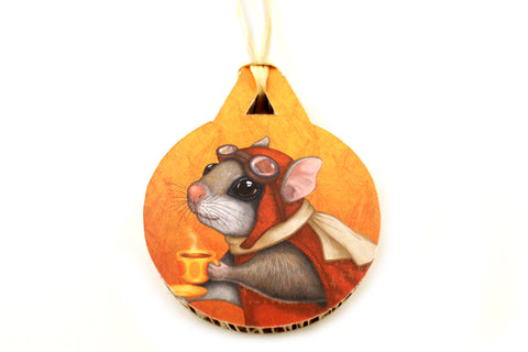 "Christmas tree decoration ""Who is timid in the woods boasts at home"" (Flying squirrel)"