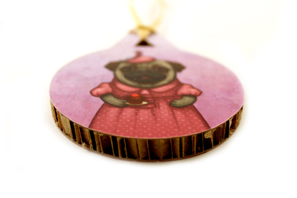 "Christmas tree decoration ""A full stomach makes a happy heart"""